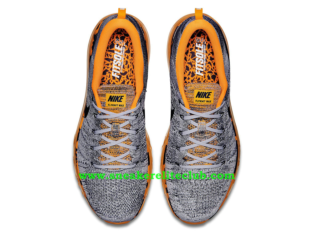 newest e5a6a 23100 ... Nike Flyknit Air Max Men´s Running Shoes Wolf Grey/Total Orange/Black  ...