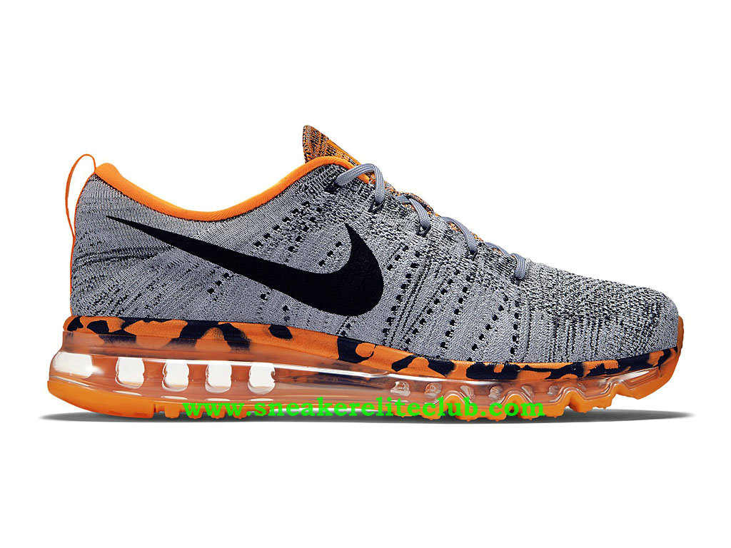 best authentic aaffa 4111e Nike Flyknit Air Max Men´s Running Shoes Wolf Grey Total Orange Black ...