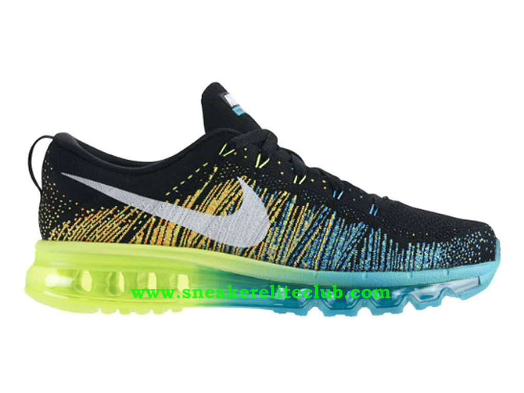 Nike Flyknit Air Max Chaussures Running Pour Homme Black Turbo Green 620469-001