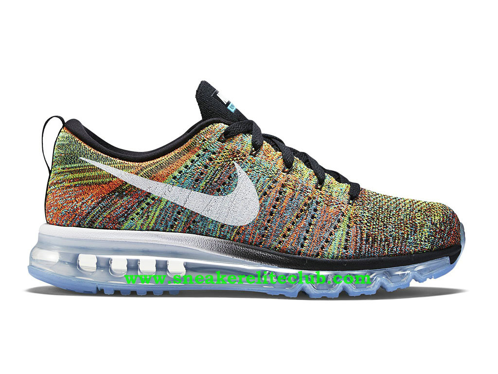 Nike Flyknit Air Max Chaussures Running Pour Homme Black/White/Blue/Total Orange 620469_004