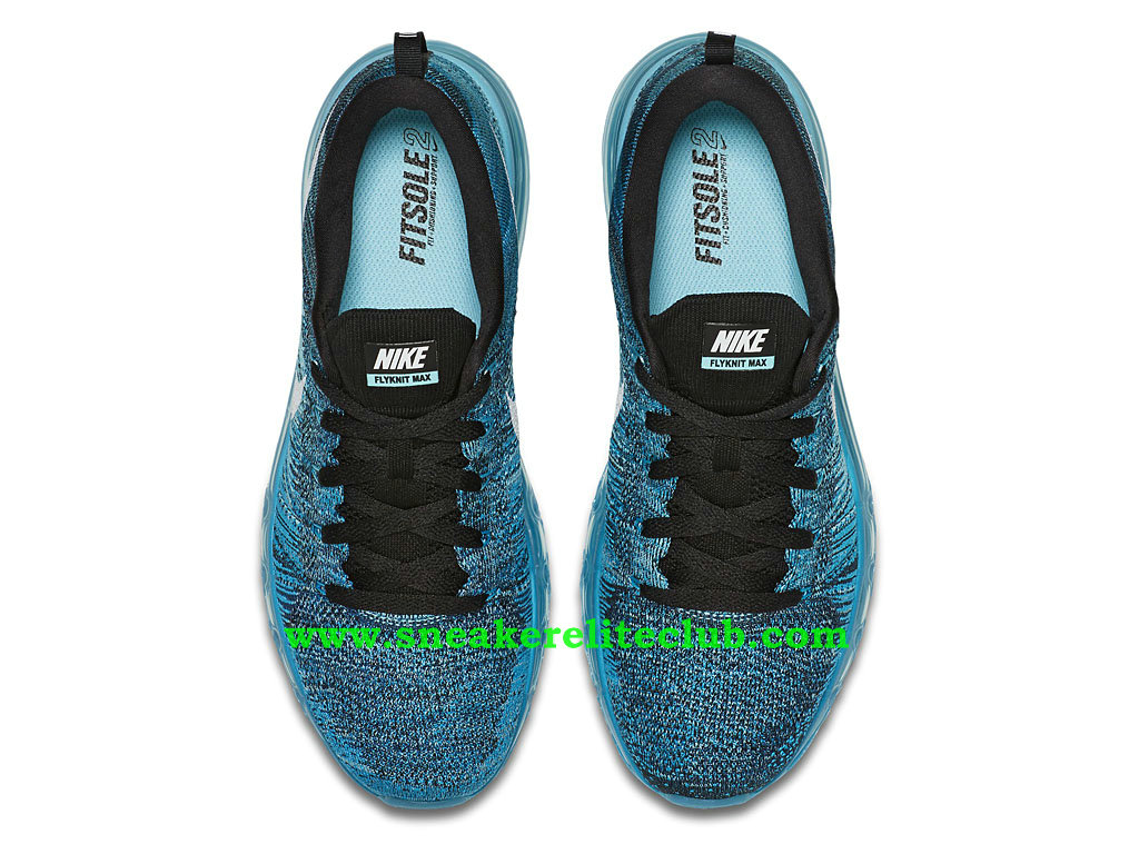 6d6093dfd72d ... Nike Flyknit Air Max Men´s Running Shoes Black White Tide Pool Blue ...