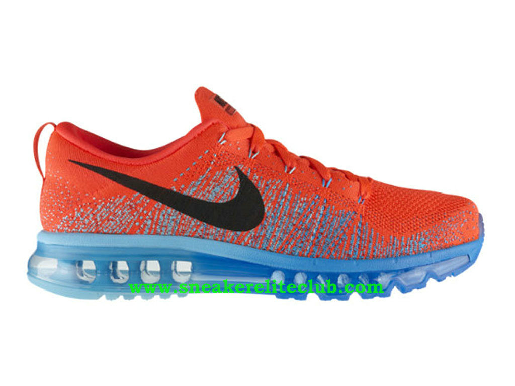 Nike Flyknit Air Max Chaussures Running Pour Homme Bright Crimson 620469-600