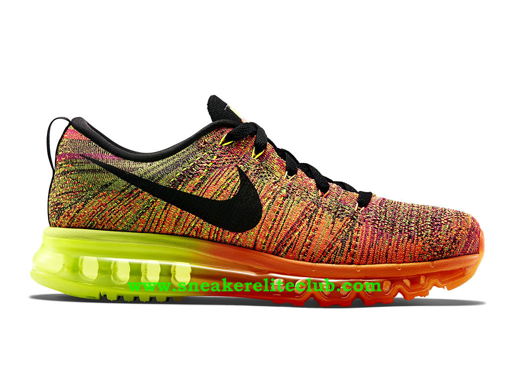 new product e1876 45e2a Nike Flyknit Air Max Men´s Running Shoes Black Orange Green 620469 801