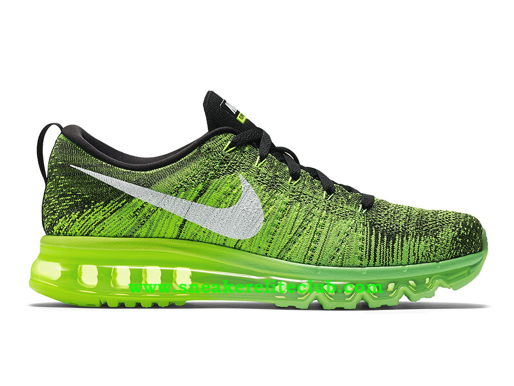 Nike Flyknit Air Max Chaussures Running Pour Homme Vert/Blanc 620469_007