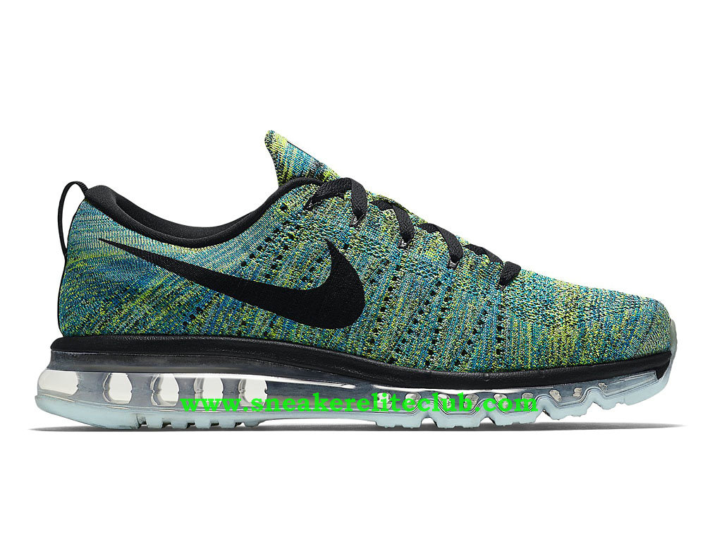 87f86ca3c703 Nike Flyknit Air Max Men´s Running Shoes Black White Tide Pool Blue ...