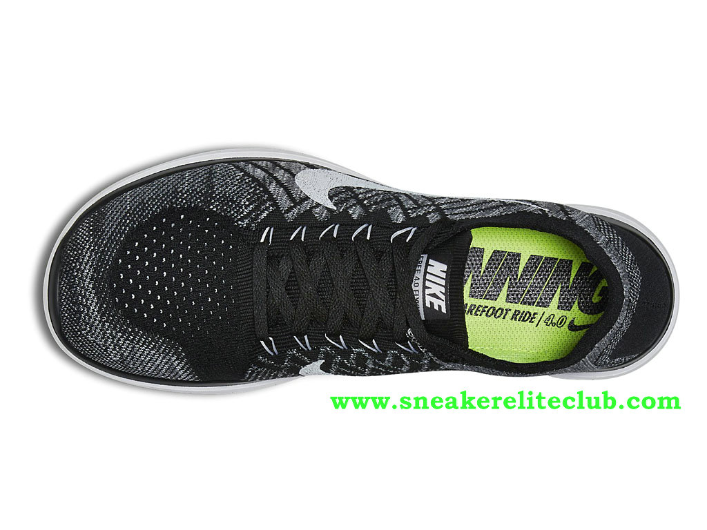 huge discount 413d6 48871 ... Nike Free 4.0 Flyknit Men´s Shoes Black Gray White ...