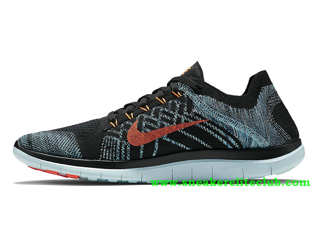 Chaussures Nike Free Flyknit noires homme dyH488