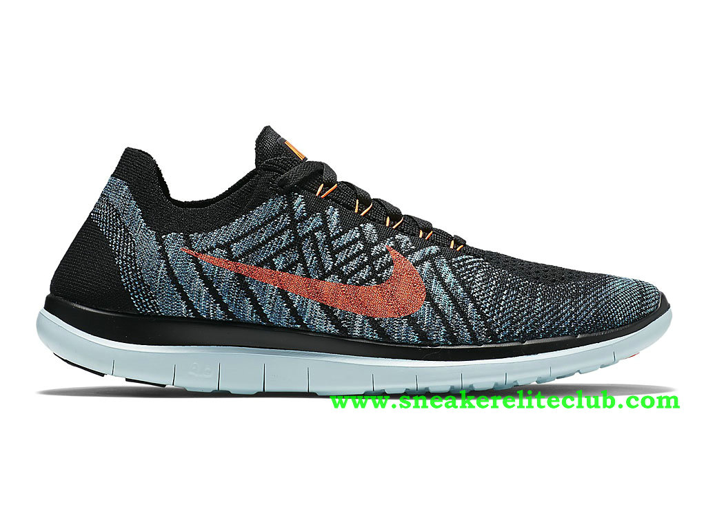 newest 68b1b c7e72 Loading zoom. Nike Free 4.0 Flyknit Chaussure Pour Homme Noir Gris Rose  717075-002 ...