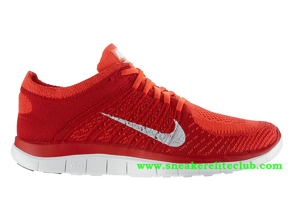 Nike Free 4.0 Flyknit Men´s Shoes Red/White ...