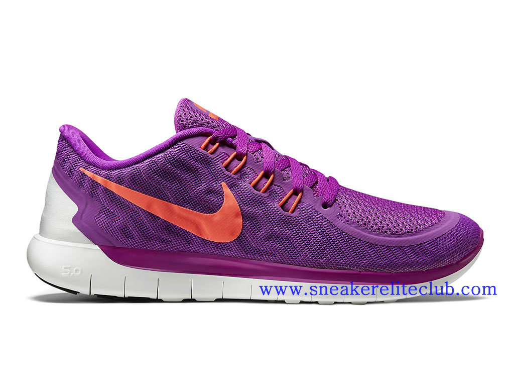 Nike Free 5.0 GS Chaussure Running Femme Pourpre Orange 724383_503