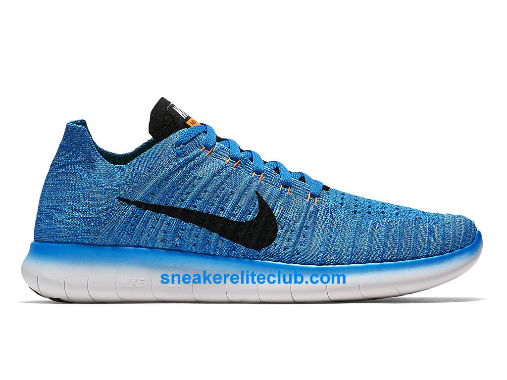 nike free rn motion flyknit prix chaussures de running pas cher pour homme bleu noir orange. Black Bedroom Furniture Sets. Home Design Ideas