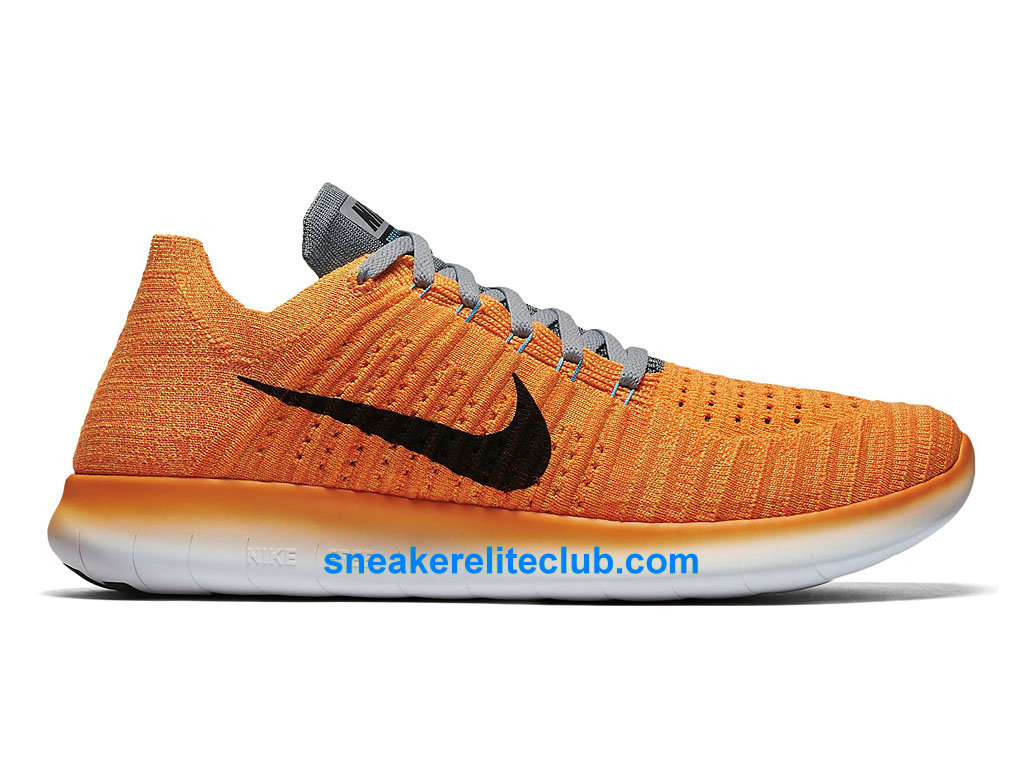 nike free rn motion flyknit prix chaussures de running pas cher pour homme orange noir gris. Black Bedroom Furniture Sets. Home Design Ideas