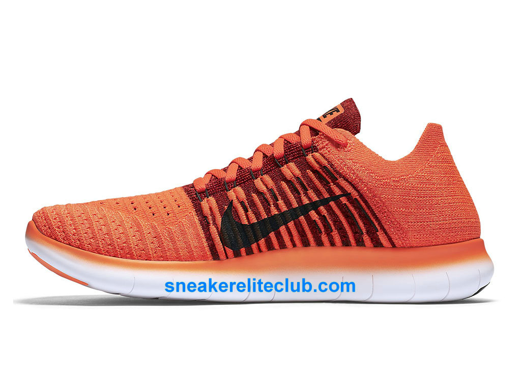 nike free rn motion flyknit prix chaussures de running pas cher pour homme rouge orange noir. Black Bedroom Furniture Sets. Home Design Ideas