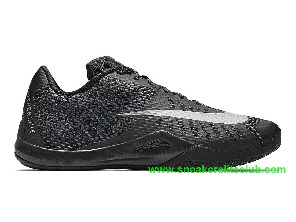 Nike HyperLive EP Homme Pas Cher Noir Blanc 820284_001
