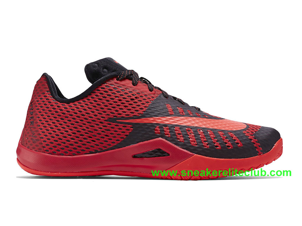 Nike HyperLive EP Homme Pas Cher Rouge Noir 820284_600