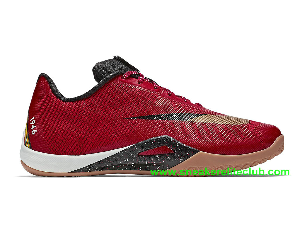 Nike HyperLive Homme Pas Cher Rouge Noir Blanc 820238_670