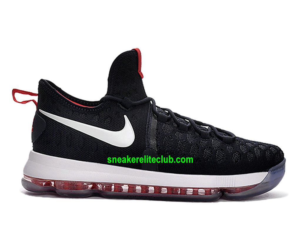 Nike KD 9 ID Prix Pas Cher Homme Chaussures Noir/Blanc/ROuge