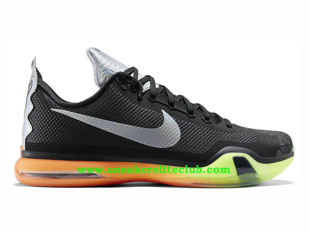 detailed look 90531 1c00e Nike Kobe X 10 -Men´s BasketBall Shoes Black Silver Orange