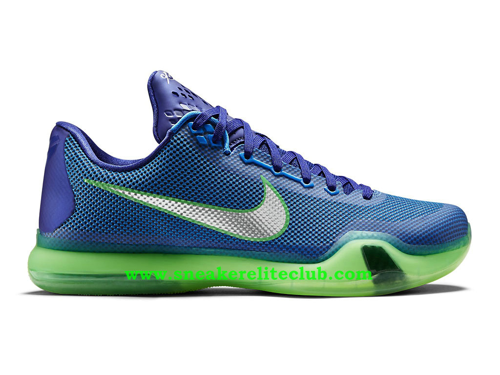 ce90b2042fc Home → BasketBall Club → Nike Kobe 10 → Nike Kobe X 10 -Men´s BasketBall  Shoes Blue Green Silver 705317-402