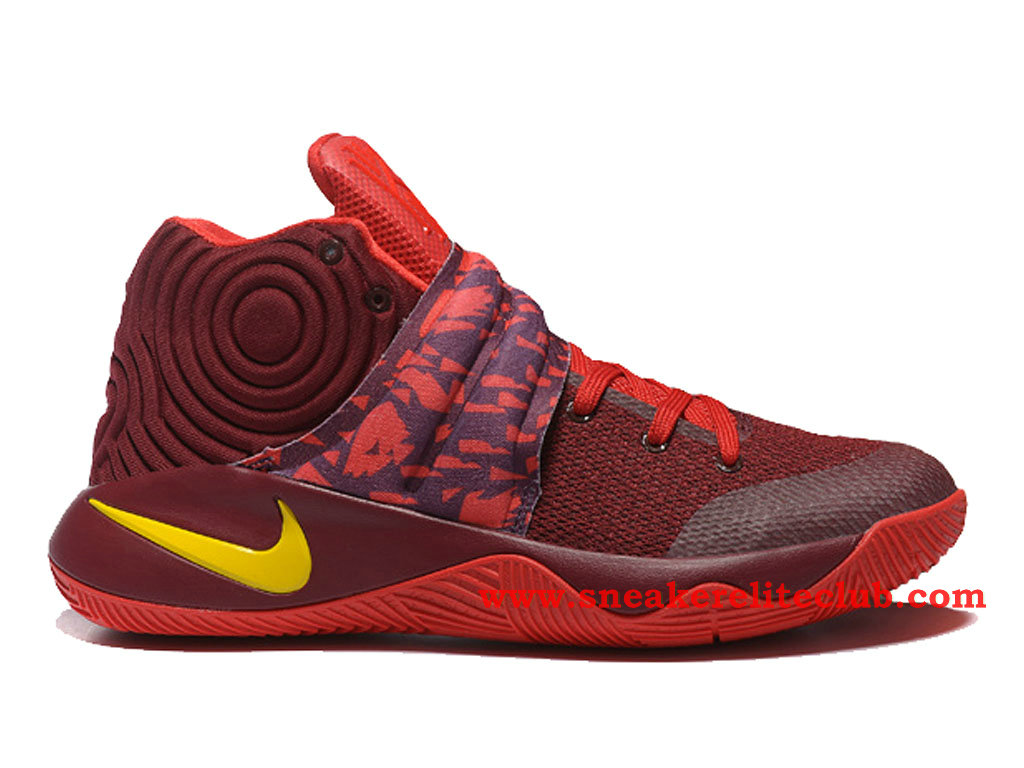 Nike Kyrie 2 ID Chaussure De BasketBall Pour Homme Rouge/Brun/Jaune 819583_A005