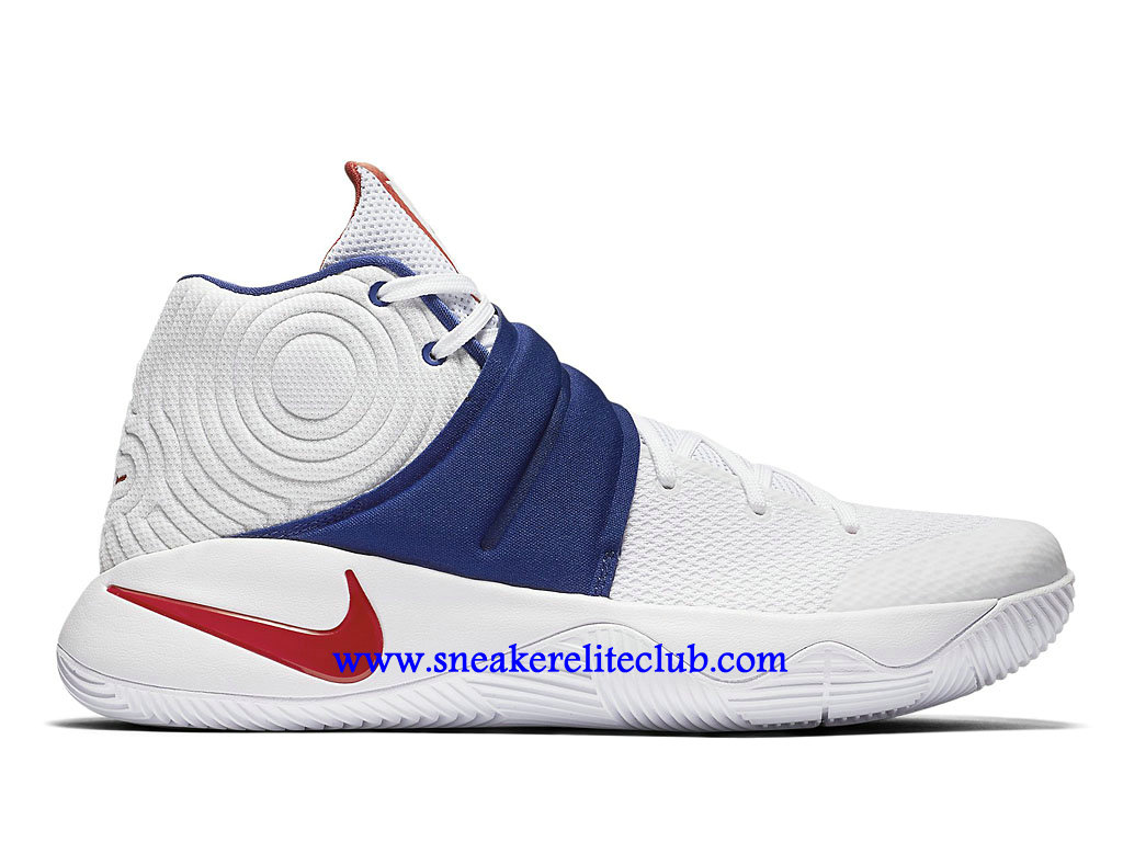 nike kyrie 2 prix chaussures de basketball pas cher homme bleu blanc rouge 819583 164. Black Bedroom Furniture Sets. Home Design Ideas