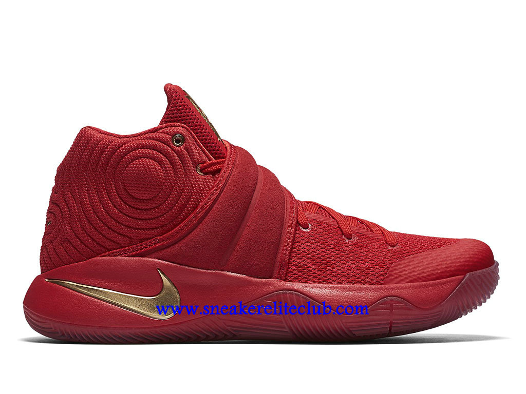 Nike Kyrie 2 Prix - Chaussures De BasketBall Pas Cher Homme Rouge/Or