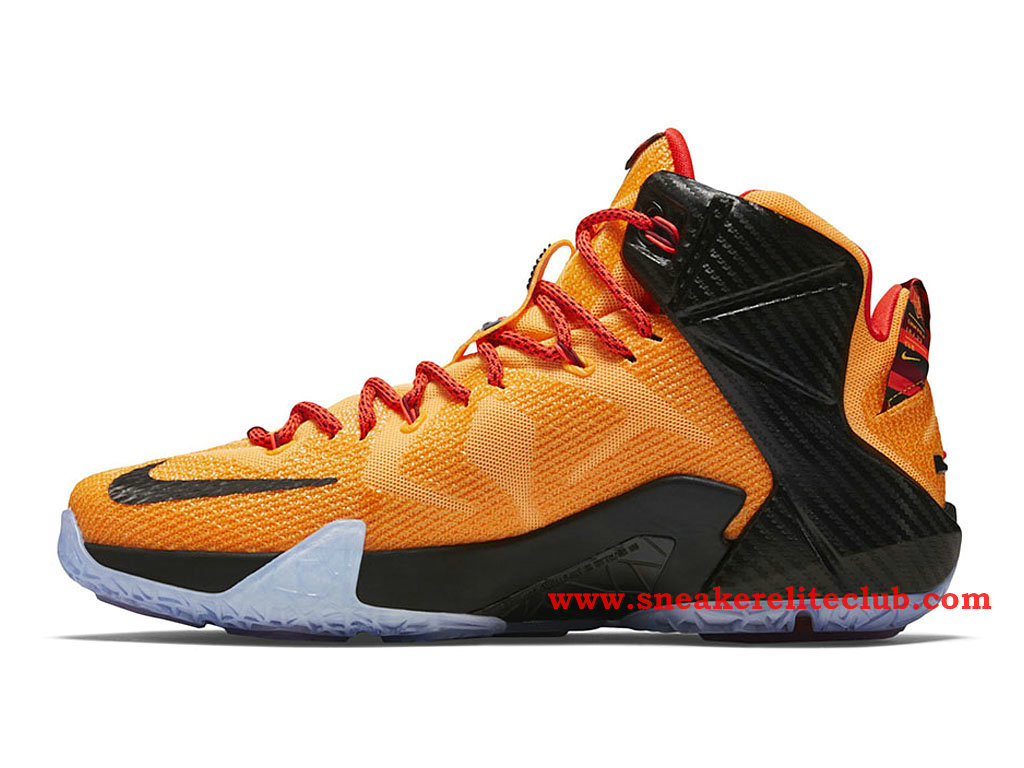 nike lebron 12 xii cleveland chaussure basket pour homme laser orange green glow black 684593. Black Bedroom Furniture Sets. Home Design Ideas