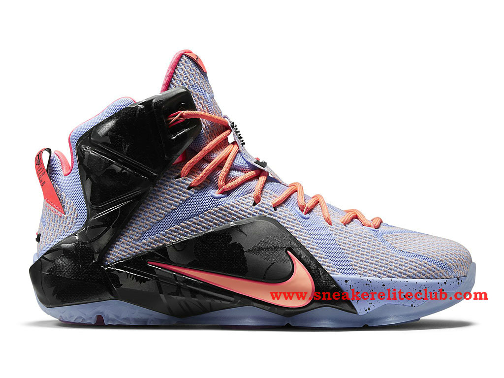 Nike Lebron 12/XII Easter Chaussure Basket Pour Homme Aluminum/Sunset Glow-Hot Lava-Black