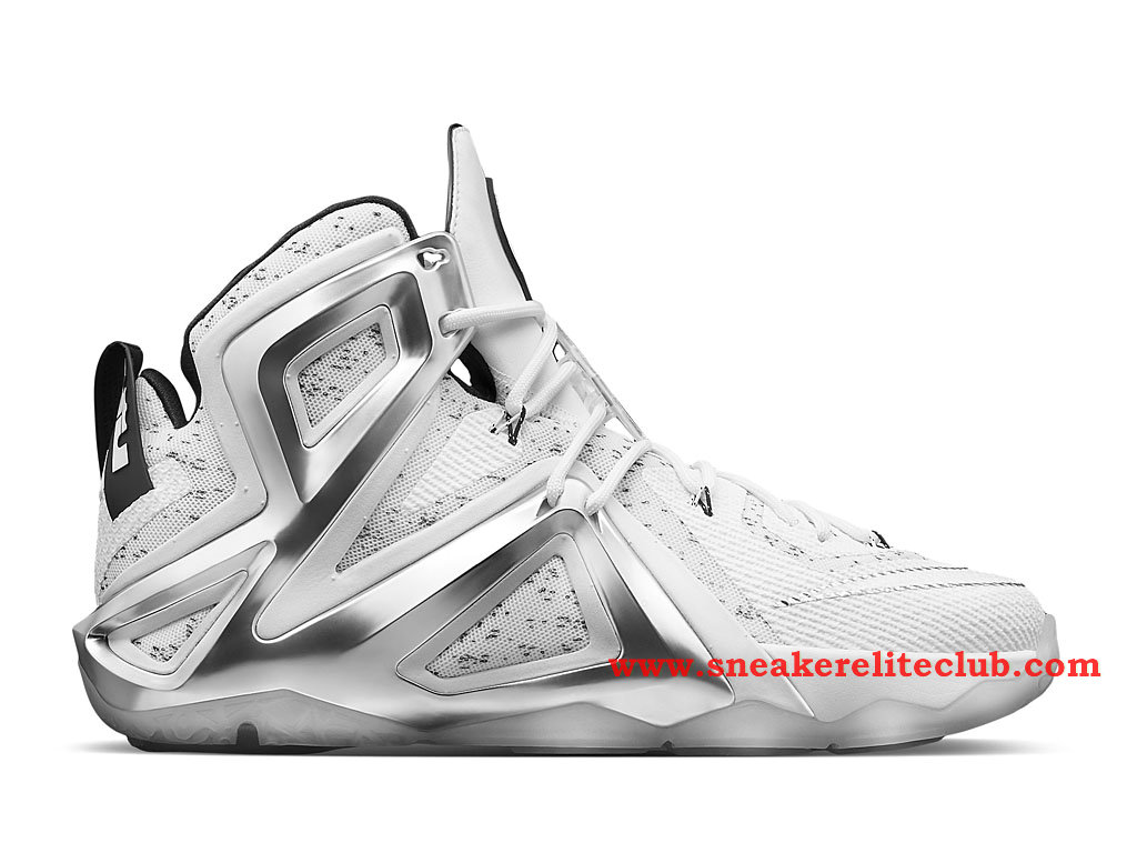 Nike Lebron 12/XII Elite Chaussure Basket Pour Homme White/Pure Platinum