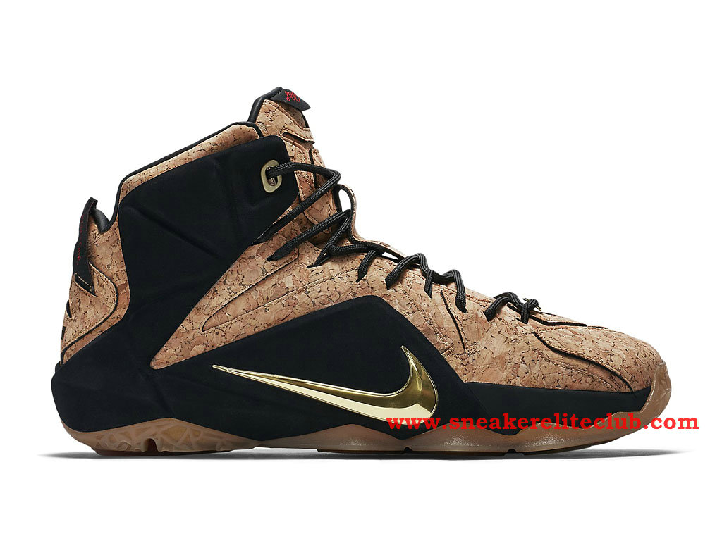 Nike Lebron 12/XII King's Cork Chaussure Basket Pour Homme Cork/Black-Metallic Gold
