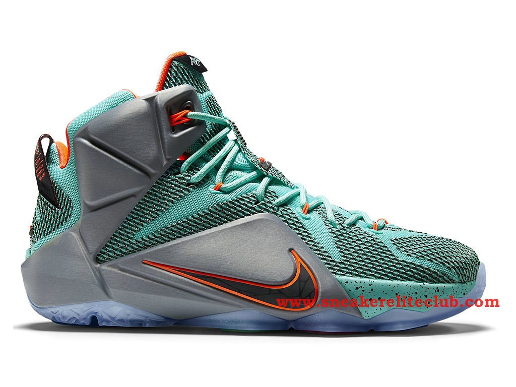 Nike Lebron 12/XII NSRL Chaussure Basket Pour Homme Hyper Turquoise/Black-Metallic Cool Grey-Hyper Crimson