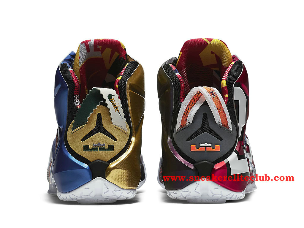 Nike Lebron 12/XII White The Chaussure Basket Pour Homme Multi-Color/Multi-Color