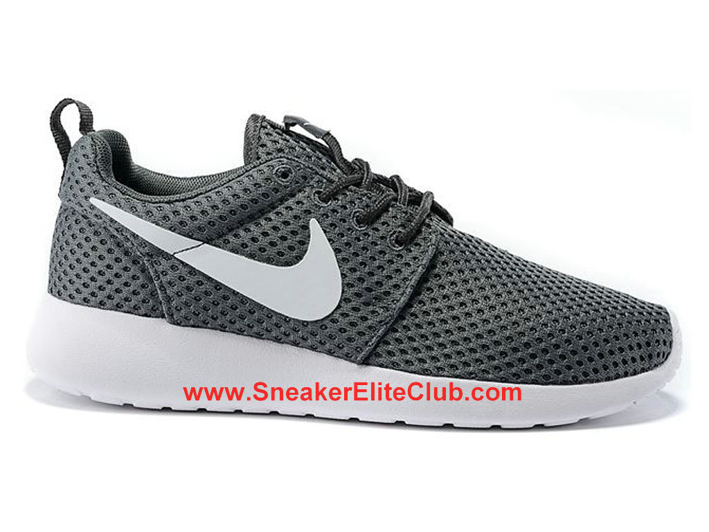 Nike Roshe One Breeze Chaussures De Running Pour Homme Cool Grey White 718552-010