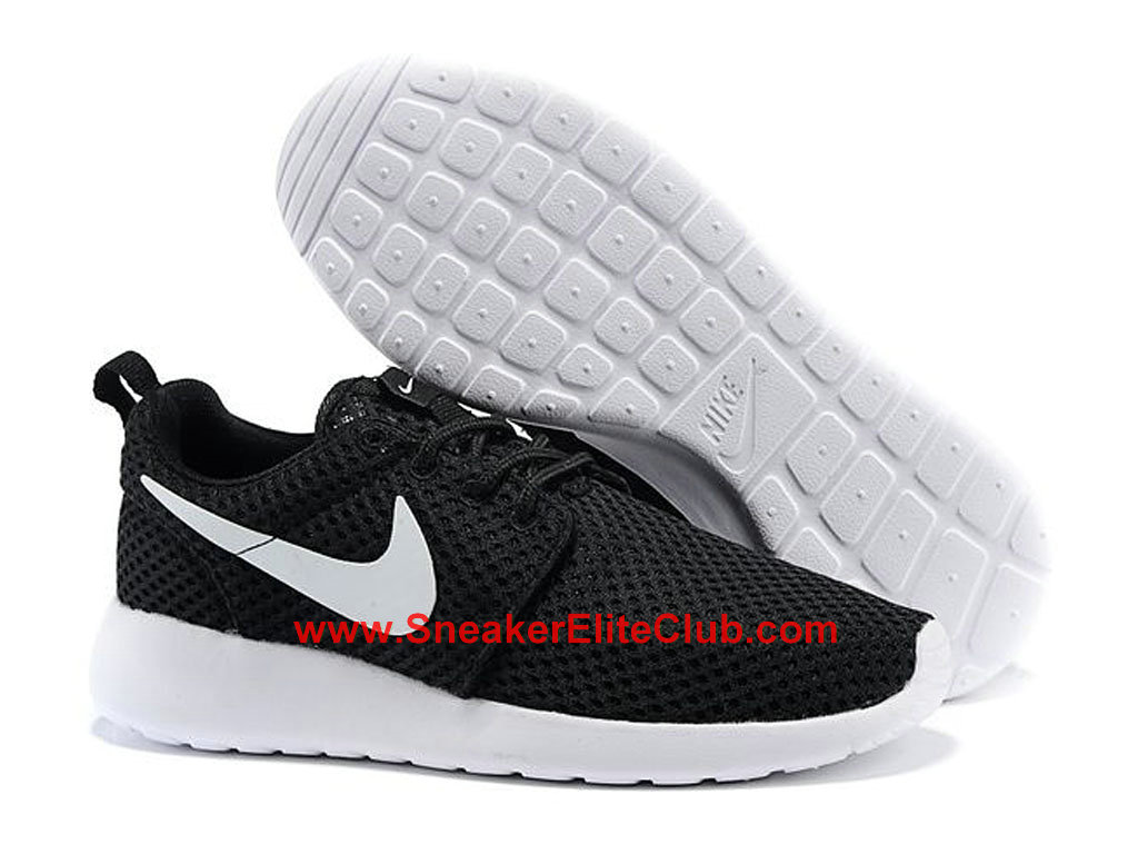 new product 4bc29 797a7 ... Nike Roshe One Breeze Running Shoes For Men Black White 718552-011 ...