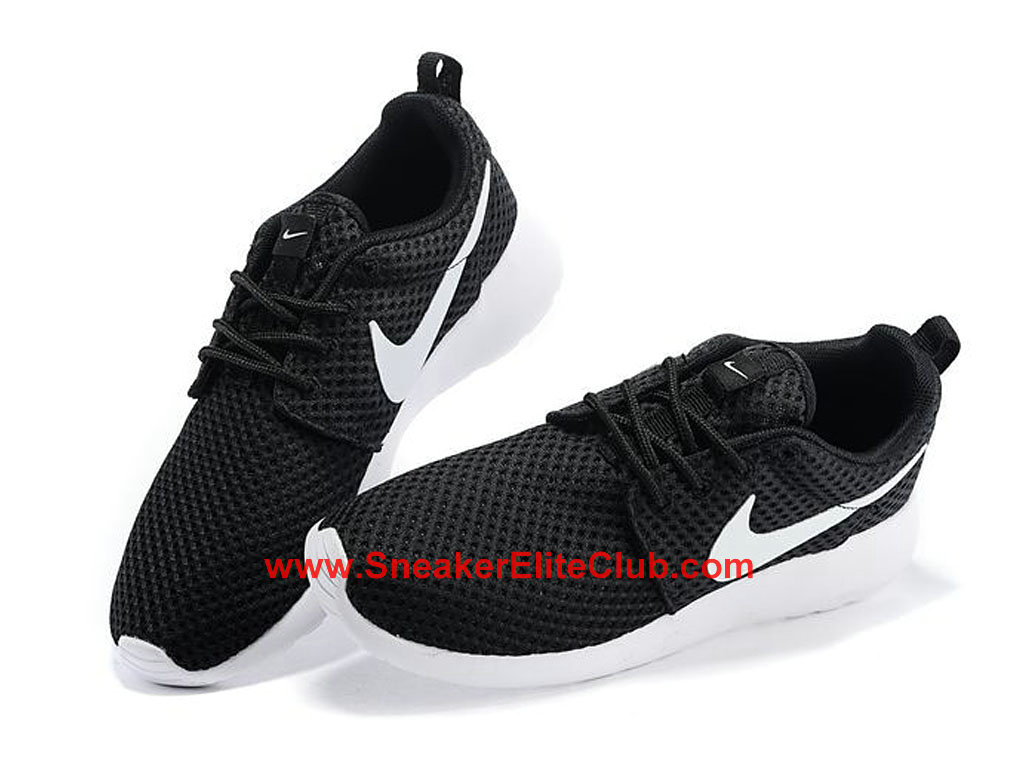 Nike Roshe One Breeze Chaussures De Running Pour Homme Noir Blanc 718552-011