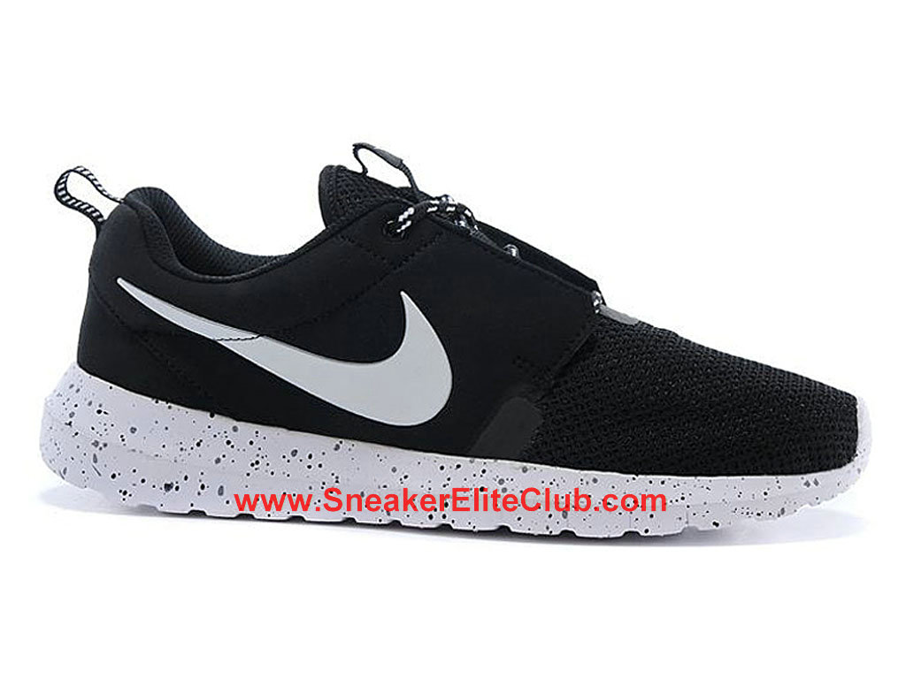 Nike Roshe One NM Breeze Running Shoes For Men Black White 644425-050