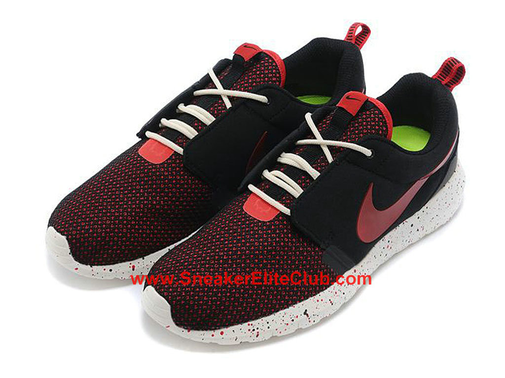 Nike Roshe One NM Breeze Chaussures De Running Pour Homme Noir Rouge Gris 644425-090