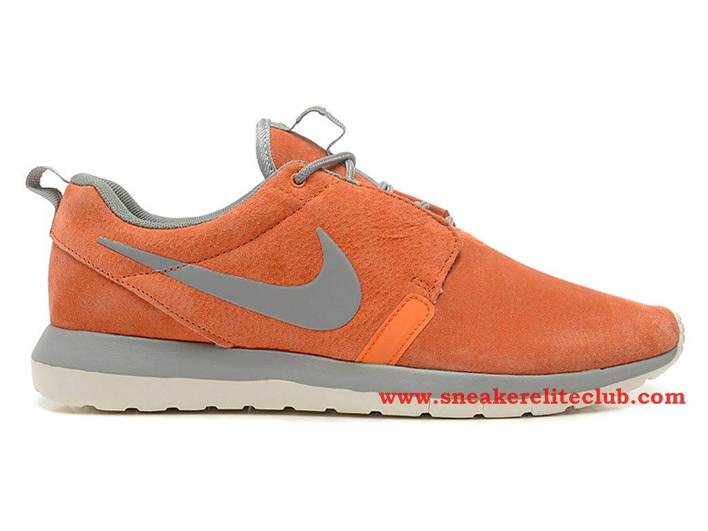 Nike Roshe Run Chaussure Homme Running Gris Orange