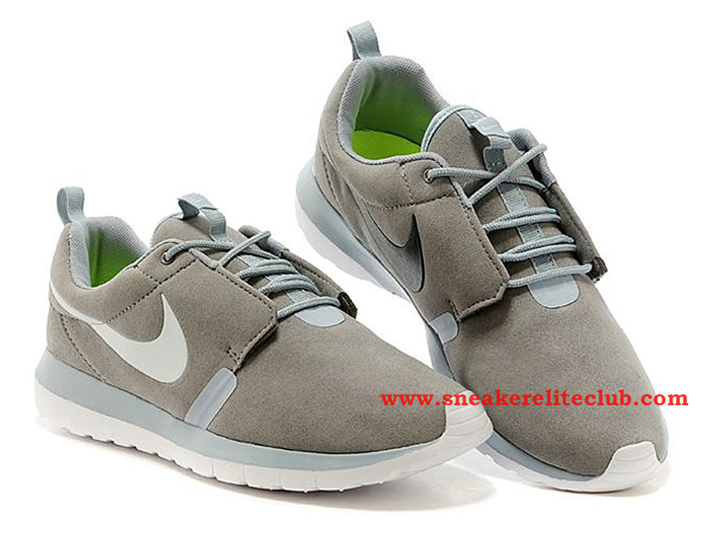 Nike Roshe Run NM Chaussure Homme Running Grey Suede 631749-002