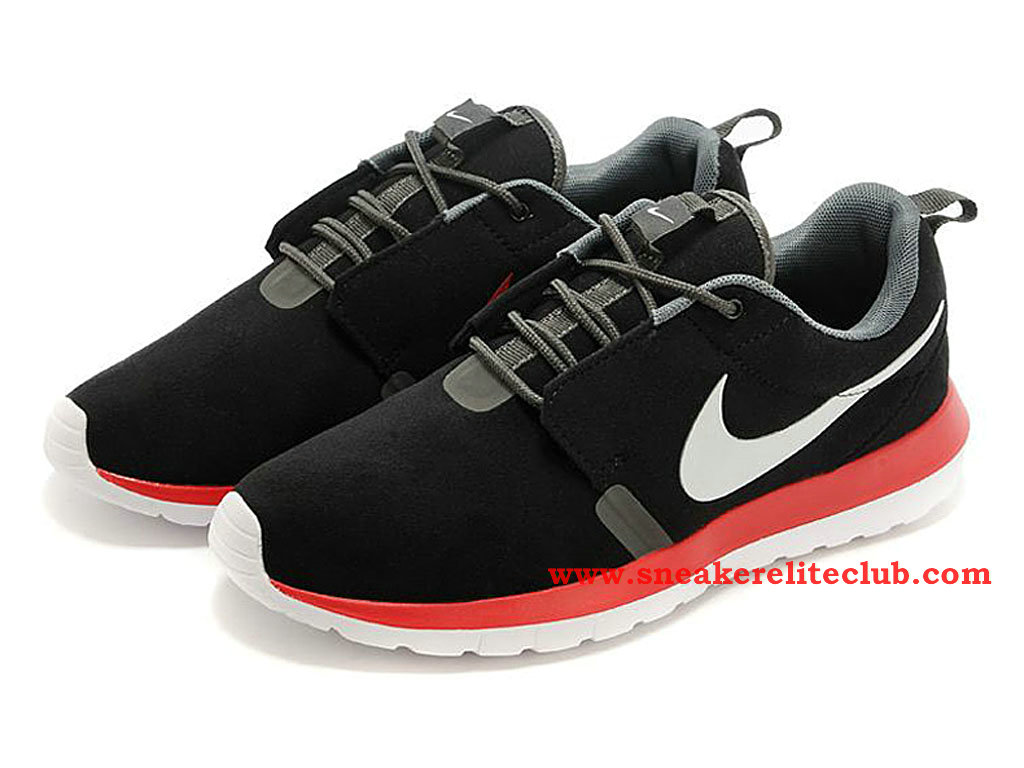 half off adf0b 47d6e ... Nike Roshe Run NM Men´s Running Shoes Black Red White ...