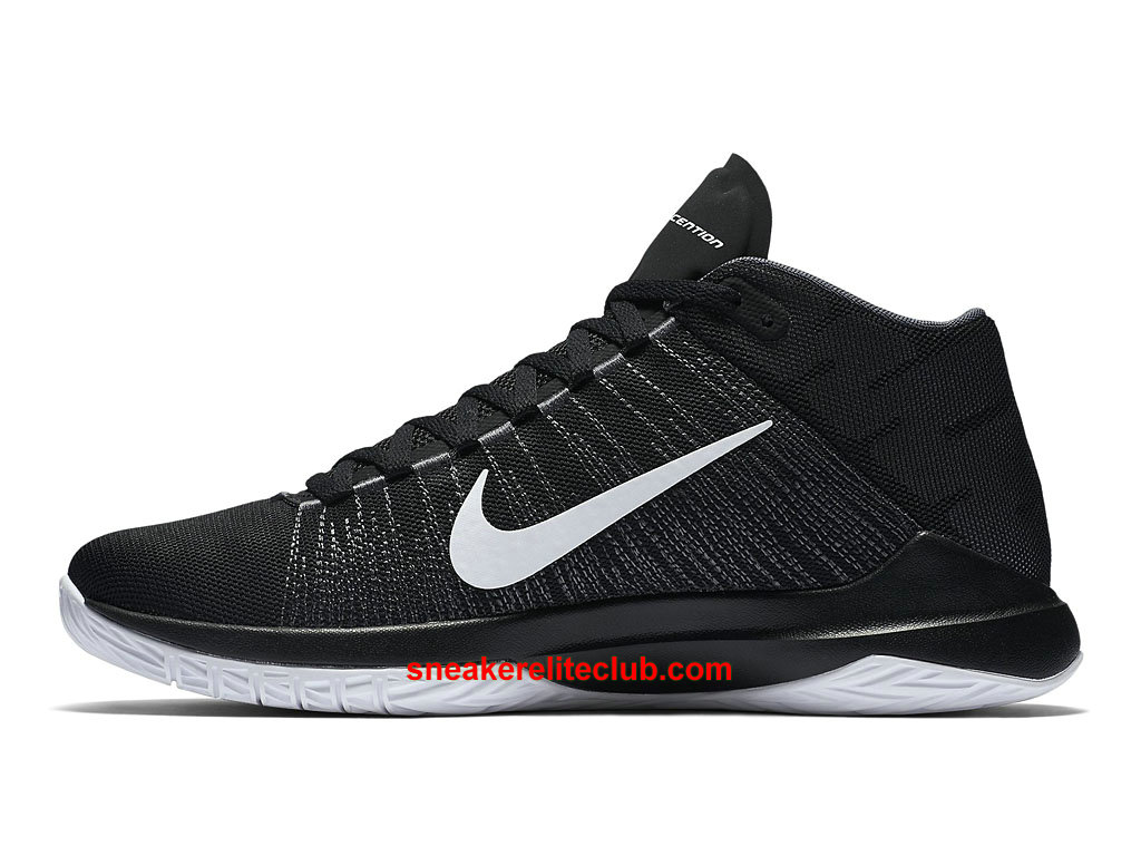 nike zoom ascention prix chaussures de basket pas cher pour homme noir blanc 832234 001. Black Bedroom Furniture Sets. Home Design Ideas