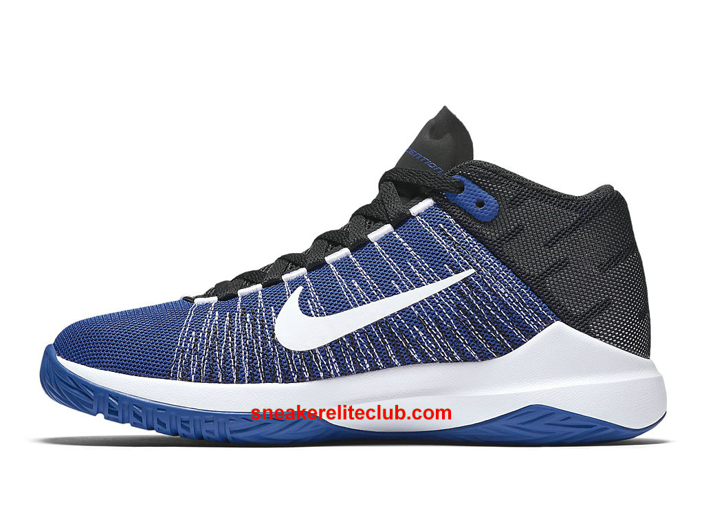nike zoom ascention prix chaussures de basket pas cher pour homme noir bleu blanc 834319 400. Black Bedroom Furniture Sets. Home Design Ideas