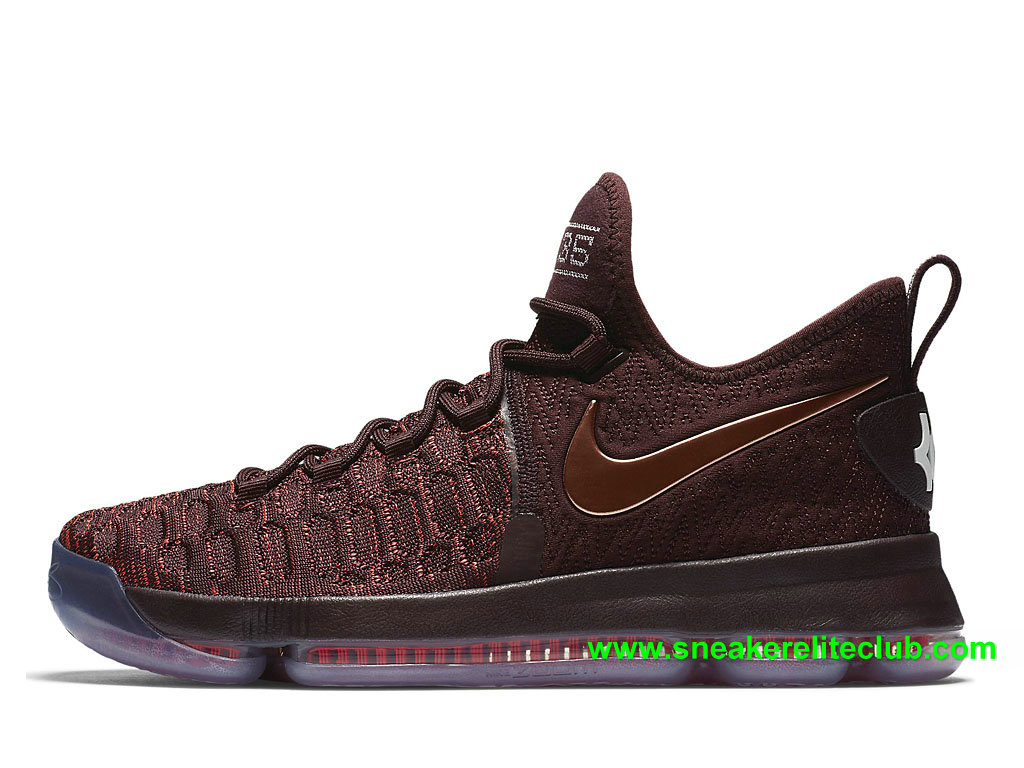 Nike Zoom KD 9 Prix Chaussures Homme Pas Cher BasketBall Brun 852409_696