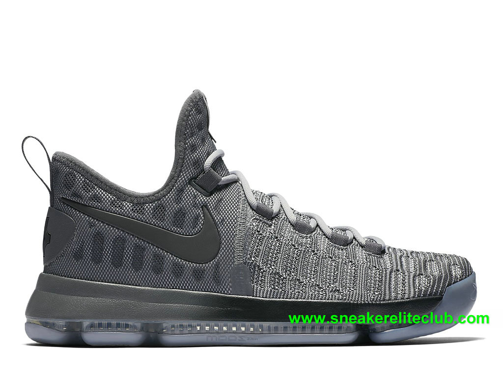 Nike Zoom KD 9 Prix Chaussures Homme Pas Cher BasketBall Gris 843392_002