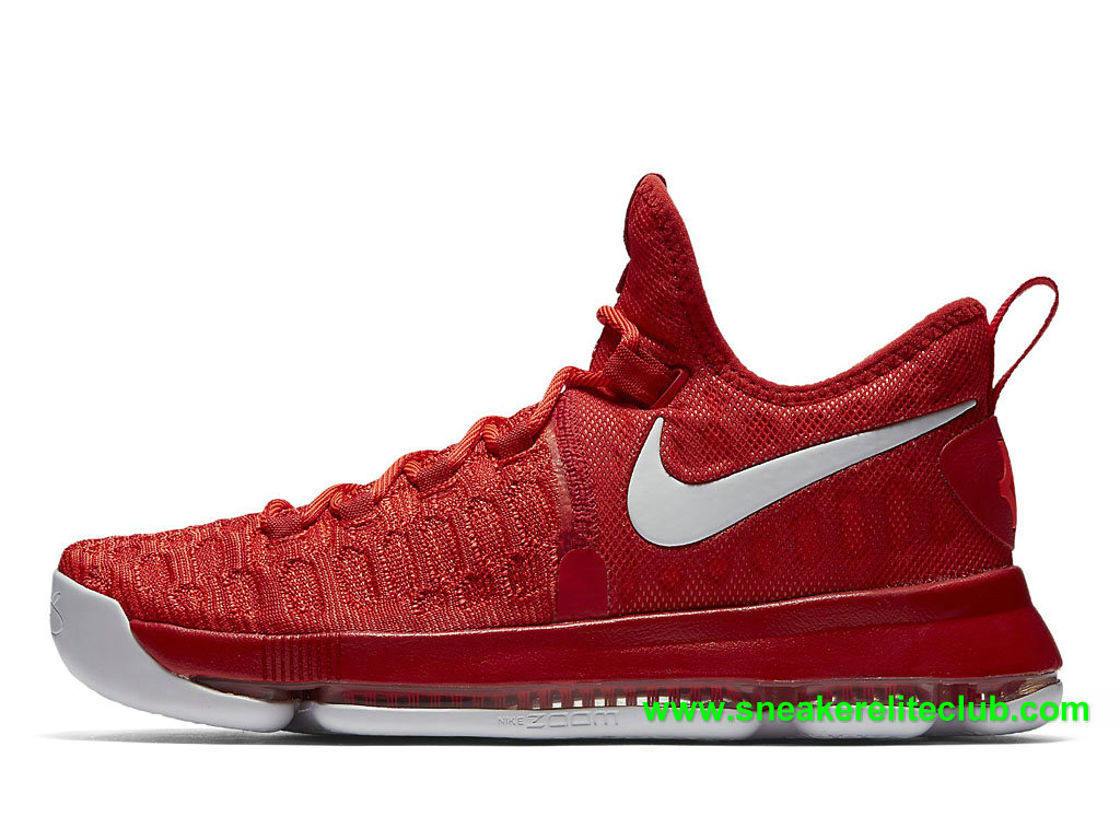 Nike Zoom KD 9 Prix Chaussures Homme Pas Cher BasketBall Varsity Red 843392_611